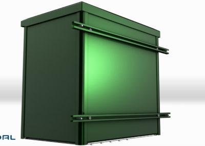 alx2000 aluminiums skap med veggfester n160