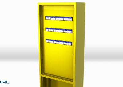 ap skap profil gul 30194-hy sikkring tett frontplate